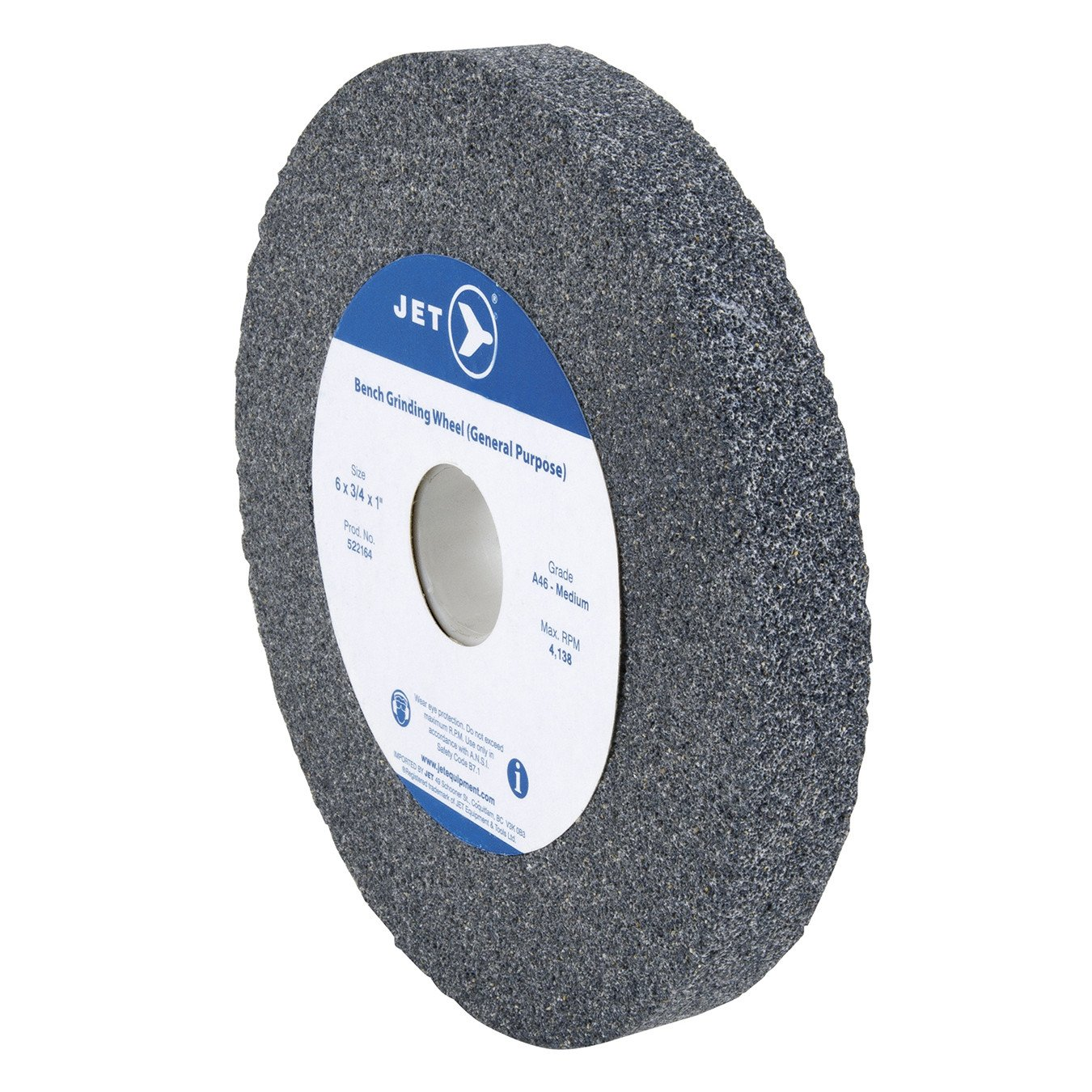 Jet Aluminum Oxide General Purpose Bench Grinding Wheels 8 Inch