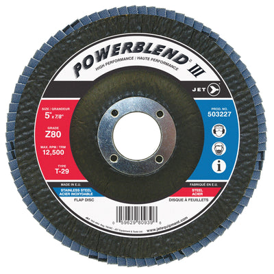 Jet Powerblend T29 Zirconia Flap Discs (For Angle Grinders) Shop Equipment - Cleanflow