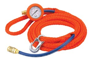 Lansas Test Plug Poly Lift Rope/Inflation Hose w/ Gauge Assembly Waterworks Products - Cleanflow