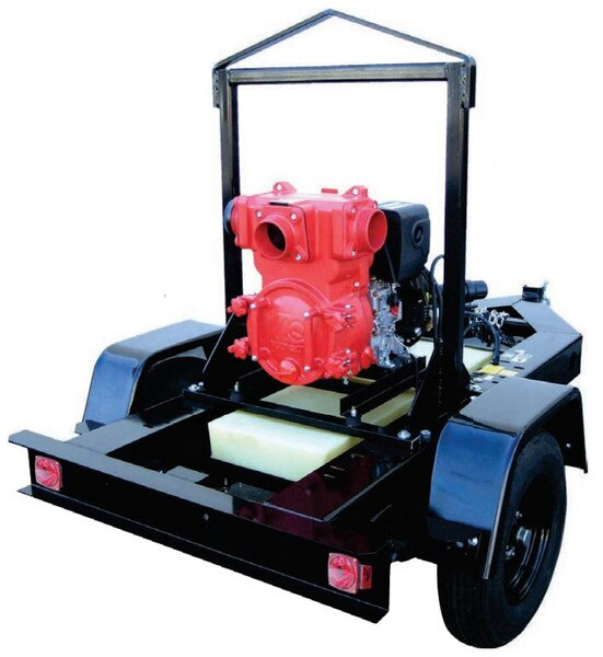 "Multiquip 4"" DOT Trailer Mounted Diesel Engine Trash Pumps"