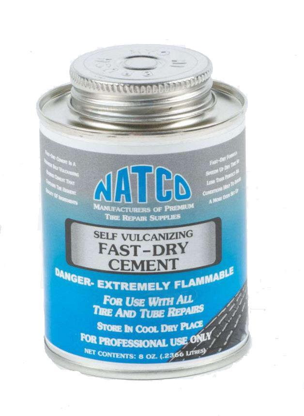 Natco Fast Dry Self Vulcanizing Tire Cement | 8 oz