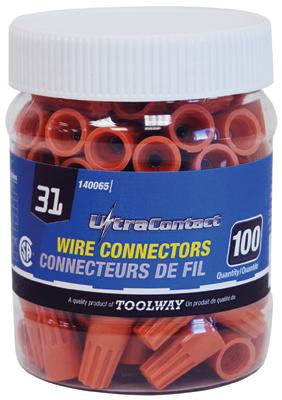 Electrical Twist-On Wire Connectors - Bulk Packaged - Various Sizes Maintenance Supplies - Cleanflow