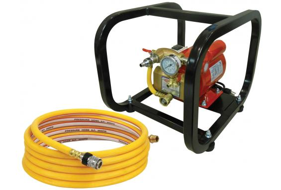 Reed EHTP500C Electric Hydrostatic Test Pump with Cage Pipe Tools - Cleanflow