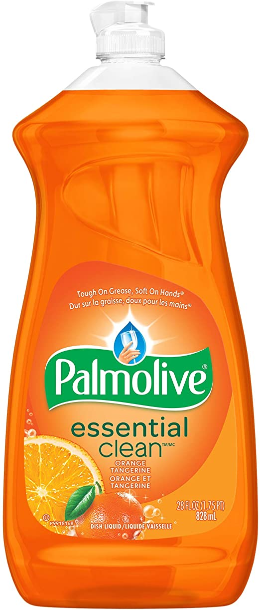 Palmolive Liquid Dish Soap - Orange - 828 ml Bottle - Case of 9 Janitorial Supplies - Cleanflow