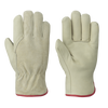 Pioneer 535FLRF Fleece Lined Driver's Cowgrain Gloves | M-XL | Pack of 12 Pairs Work Gloves and Hats - Cleanflow