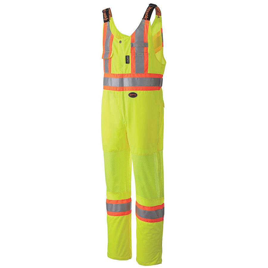Pioneer Breathable Poly/Mesh Hi-Vis Traffic Overall | Yellow | M-4XL Hi Vis Work Wear - Cleanflow