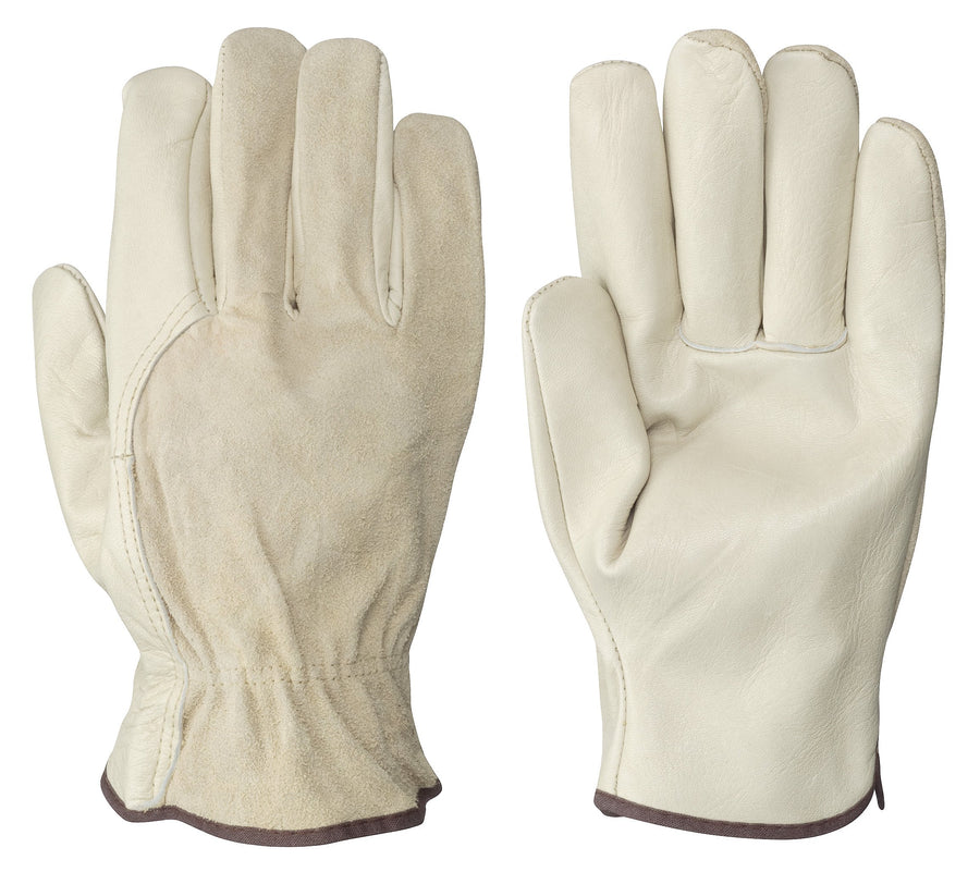 Pioneer 535 Driver's Cowgrain Gloves | S-XL | Pack of 12 Pairs Work Gloves and Hats - Cleanflow