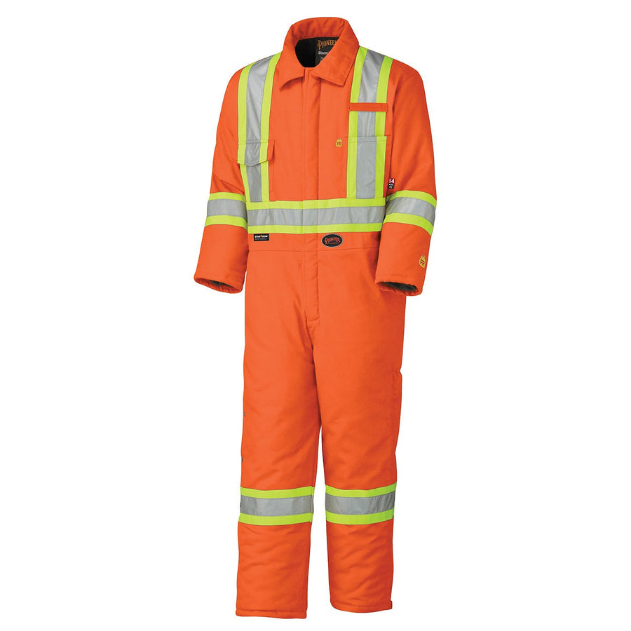 Pioneer 5532A Flame Resistant Cotton Hi-Vis Orange Winter Coveralls