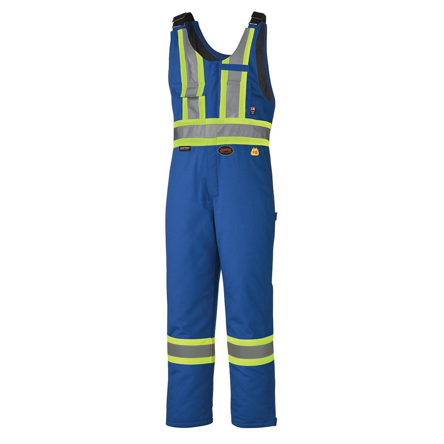 Pioneer Flame Resistant Cotton Hi-Vis Winter Bib Overall | Royal Blue