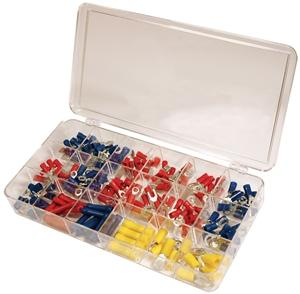Quick Cable Solderless Terminal Kit - 175 Piece Maintenance Supplies - Cleanflow