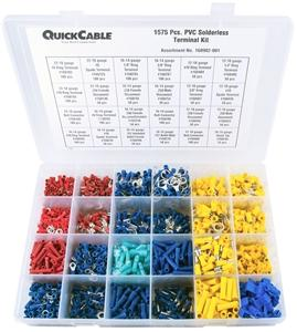 Quick Cable PVC Solderless Terminal Kit - 1675 Piece Maintenance Supplies - Cleanflow