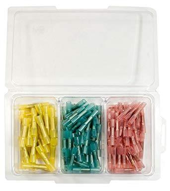 Quick Cable Solder Heat Shrink Butt Connector Kit - 125 Piece Maintenance Supplies - Cleanflow