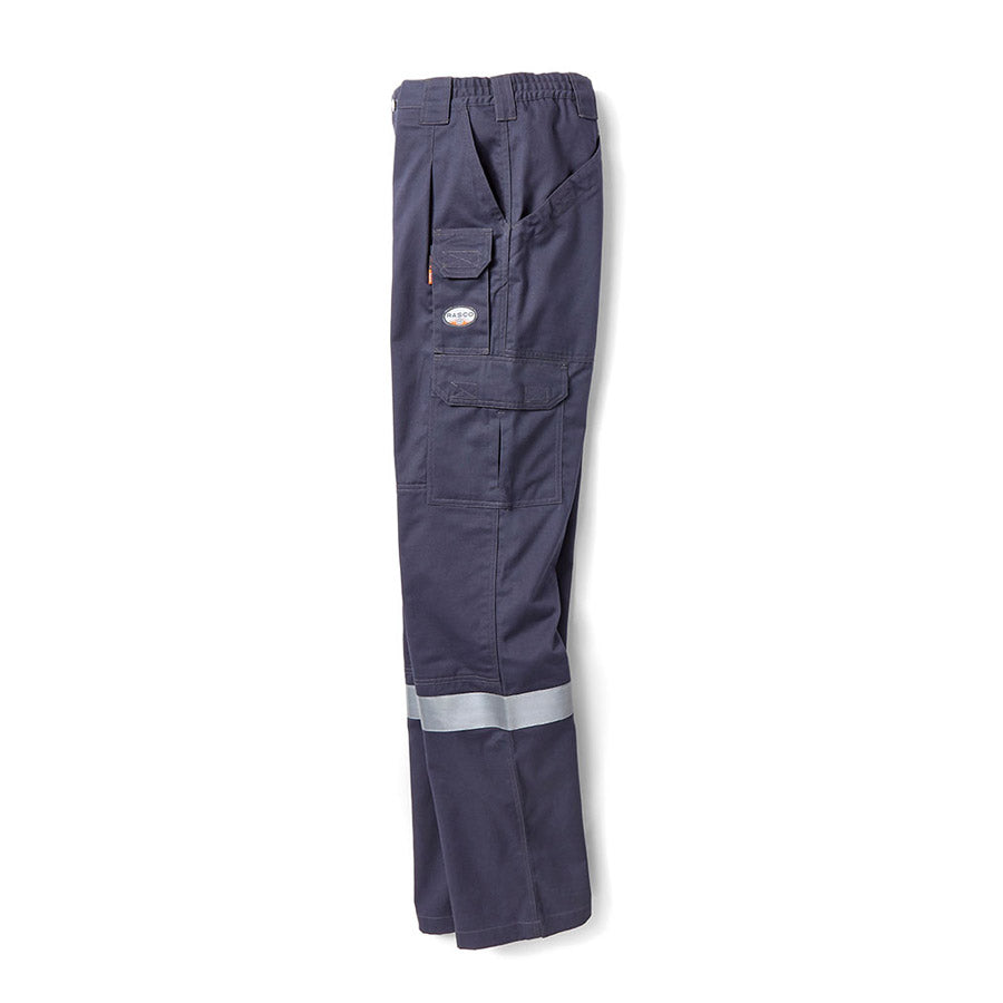 Rasco FR Field Pants with Reflective Trim | Charcoal Gray | Waist 30-52"