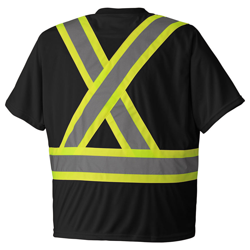 Rasco 100% Cotton Knit Short Sleeve Hi Vis T-Shirt | Black | S-4XL Hi Vis Work Wear - Cleanflow