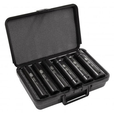 Reed EDKS6 Extended Impact Grade Socket Set - 6 Piece Pipe Tools - Cleanflow