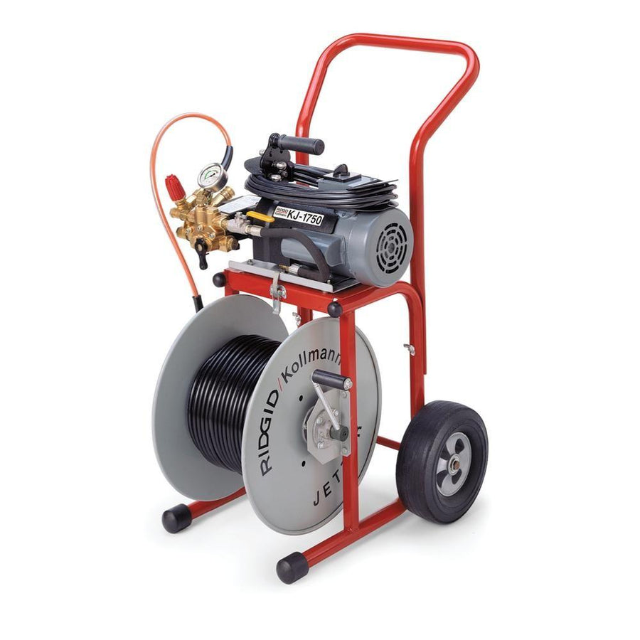 Ridgid KJ-1750 2 HP 120V Electric Motor Jetter Drain Cleaner | 1.4 GPM | 1750 PSI