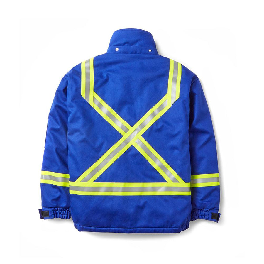 Rasco FR Hi-Vis Insulated Westex Ultrasoft Winter Bomber Jacket | Royal Blue | S-3XL Flame Resistant Work Wear - Cleanflow