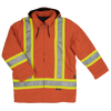 Work King s157 Cotton Duck Winter Safety Parka | Orange | S-3XL Hi Vis Work Wear - Cleanflow