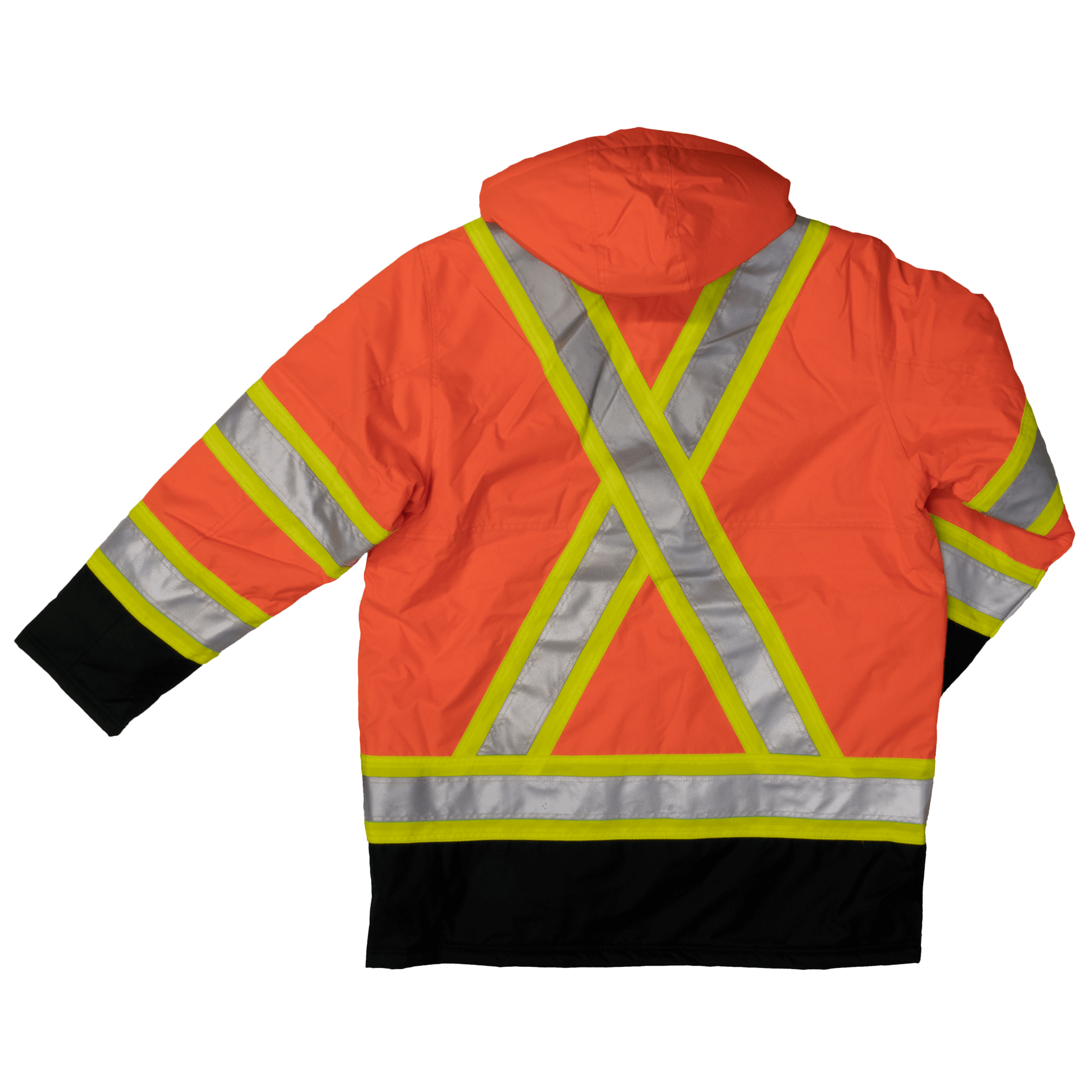 59480fbe7 Work King s176 Insulated 300D Poly Oxford Safety Parka | Orange | S-3XL