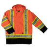 Work King s176 Insulated 300D Poly Oxford Safety Parka | Orange | S-3XL Hi Vis Work Wear - Cleanflow