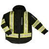 Work King s187 Ripstop 4-In-1 Safety Jacket | Black | S-5XL Hi Vis Work Wear - Cleanflow