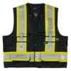 Work King High Visibility Surveyor Safety Vest | Black | Limited Size Selection Hi Vis Work Wear - Cleanflow