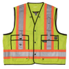 Work King s313 High Visibility Surveyor Safety Vest | Yellow | S-3XL Hi Vis Work Wear - Cleanflow