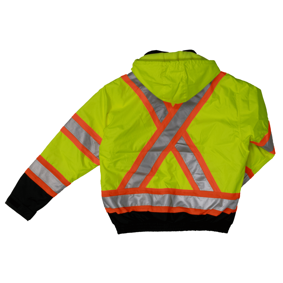 Tough Duck s413 Insulated 300D Poly Oxford 3-In-1 Safety Bomber | Yellow | S-3XL Hi Vis Work Wear - Cleanflow