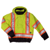 Work King s413 Insulated 300D Poly Oxford 3-In-1 Safety Bomber | Yellow | S-3XL Hi Vis Work Wear - Cleanflow