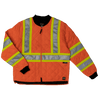 Work King s432 Quilted Poly Safety Freezer Jacket | Orange | S-5XL Hi Vis Work Wear - Cleanflow