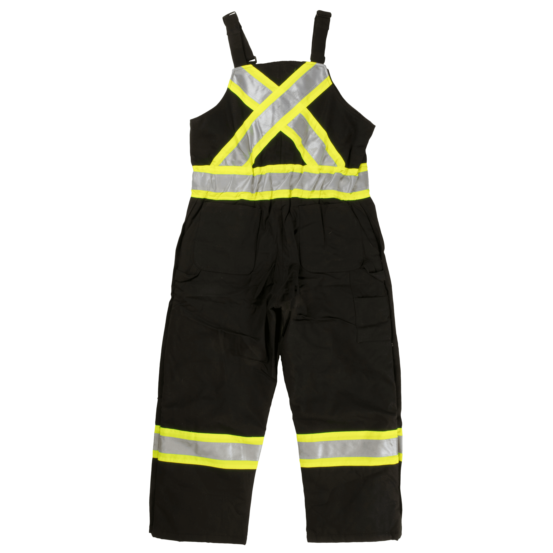 Work King s757 Premium Insulated Cotton Duck Safety Bib Overalls | Black |  S-3XL
