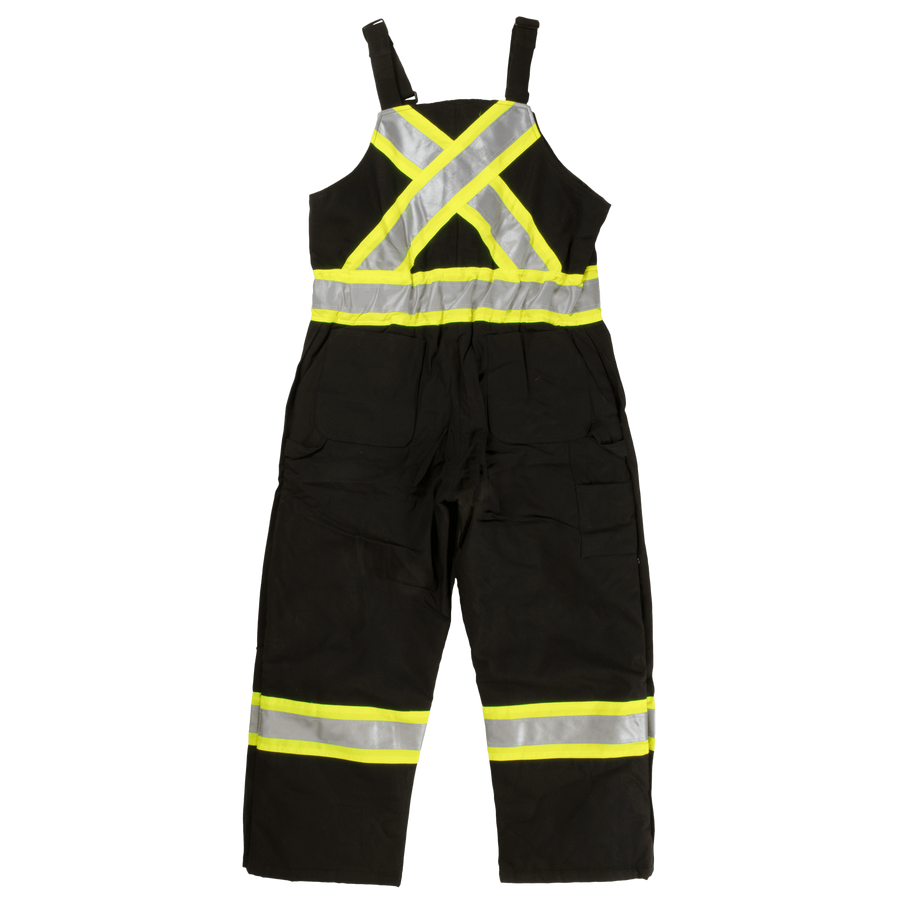 Tough Duck s757 Premium Insulated Cotton Duck Safety Bib Overalls | Black | S-5XL Hi Vis Work Wear - Cleanflow