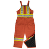 Work King s757 Insulated Cotton Duck Safety Bib Overalls | Orange | Limited Size Selection Hi Vis Work Wear - Cleanflow