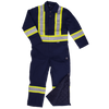 Tough Duck s787 Cotton Duck Winter Safety Coveralls | Dark Navy | S-5XL Hi Vis Work Wear - Cleanflow