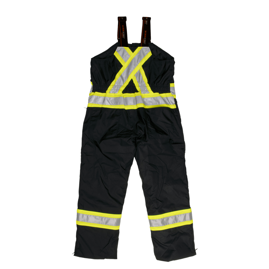 Tough Duck s798 Insulated 300D Safety Bib Overall | Black | S-5XL Hi Vis Work Wear - Cleanflow