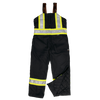 Work King s798 Insulated 300D Safety Bib Overall | Black | S-5XL Hi Vis Work Wear - Cleanflow