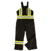 Tough Duck s876 Insulated 300D Waterproof/Breathable Ripstop Overalls | Black | S-5XL Hi Vis Work Wear - Cleanflow