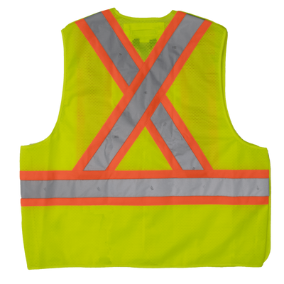 Tough Duck s9i0 High Visibility Tearaway Safety Vest | Yellow | S/M to 2XL/3XL Hi Vis Work Wear - Cleanflow