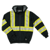 Tough Duck SJ16 Thermal Lined Safety Hoodie | Black | S-3XL Hi Vis Work Wear - Cleanflow