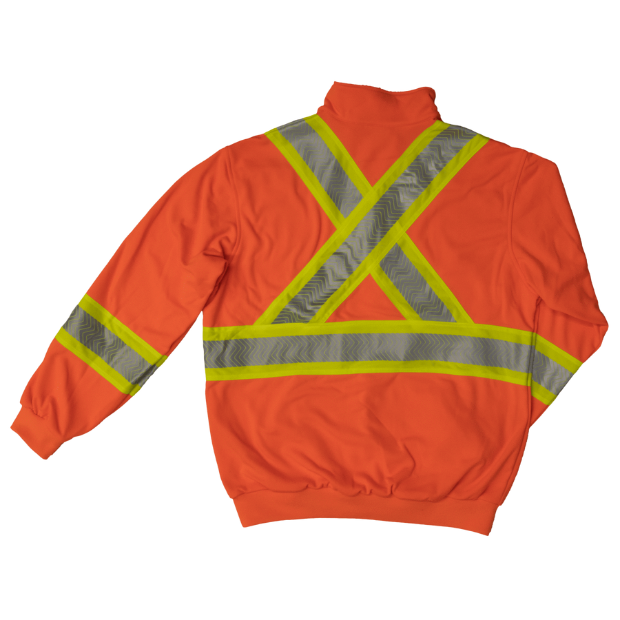Tough Duck SJ19 Hi-Vis 1/4 Zip Pullover | Orange | M to 2XL Hi Vis Work Wear - Cleanflow