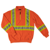 Work King SJ19 Hi-Vis 1/4 Zip Pullover | Orange | M to 2XL Hi Vis Work Wear - Cleanflow