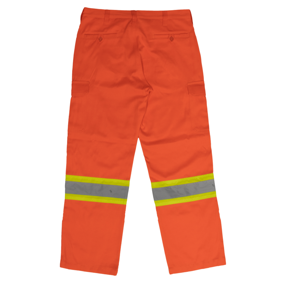 Tough Duck SP01 Heavy Duty Safety Cargo Work Pants | Orange | Sizes 32 - 44 Hi Vis Work Wear - Cleanflow