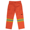 Work King SP01 Heavy Duty Safety Cargo Work Pants | Orange Hi Vis Work Wear - Cleanflow