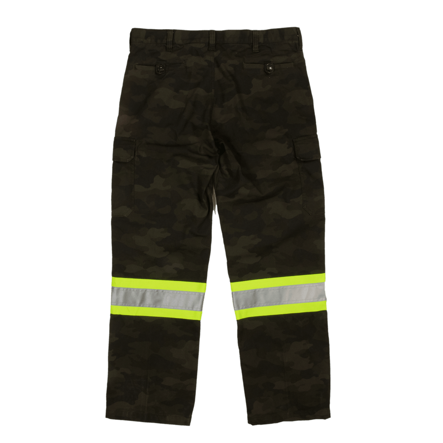 Tough Duck SP04 Camo Flex Duck Safety Cargo Utility Pant | Sizes 30 - 48 Hi Vis Work Wear - Cleanflow