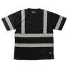 Work King ST07 Safety T-Shirt with Segmented Stripes | Black | S-3XL Hi Vis Work Wear - Cleanflow