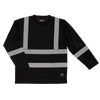 Work King ST08 Safety Long Sleeve Shirt with Segmented Stripes | Black | S-3XL Hi Vis Work Wear - Cleanflow