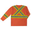Work King ST10 Long-Sleeve Safety T-Shirt | Orange | S-3XL Hi Vis Work Wear - Cleanflow