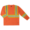 Tough Duck ST10 Long-Sleeve Safety T-Shirt | Orange | S-3XL Hi Vis Work Wear - Cleanflow