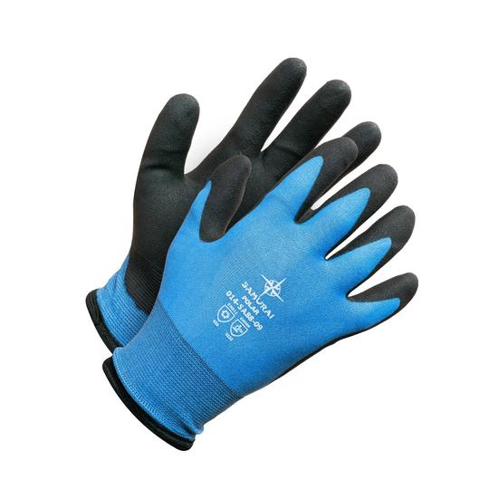 Samurai Polar Acrylic Lined Winter Gloves with Hydropellent Technology | 12 Pack Work Gloves and Hats - Cleanflow