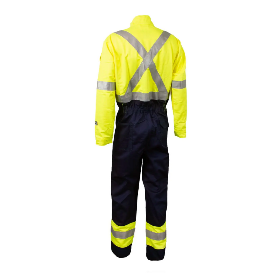 Wenaas Offshore Daletec Light Weight FR Coverall | Yellow/Navy | Sizes S - 4XL Flame Resistant Work Wear - Cleanflow